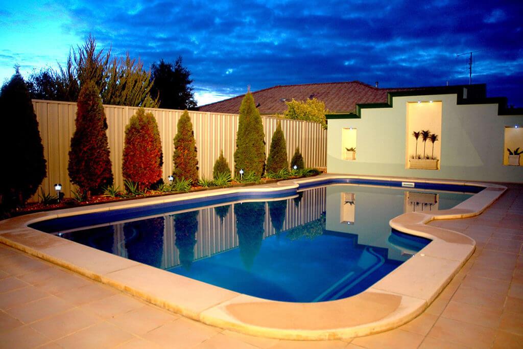 Benbec Fibreglass Pool Night 2