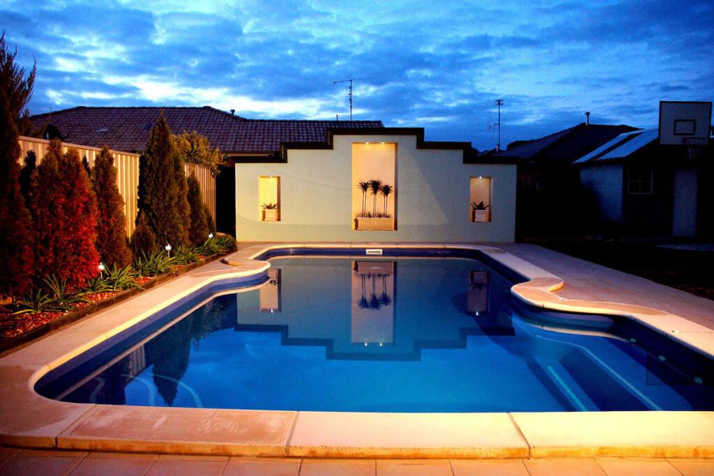 Benbec Fibreglass Pool Night 1